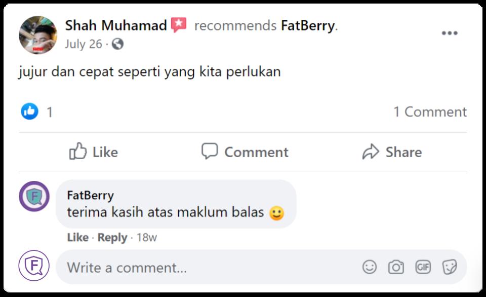 customer feedback 1 fatberry